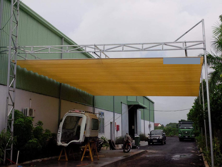 Cung Cấp Bạt Xếp Mái Hiên, Lắp Đặt Mái Hiên Mái Che Giá Rẻ Biên Hòa Bình Dương TPHCM