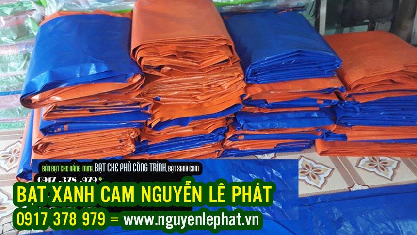 Bạt Xanh Cam Che Phủ Giá bao Nhiêu Tiền m2 Khổ 4m, 6m, 8m,10m