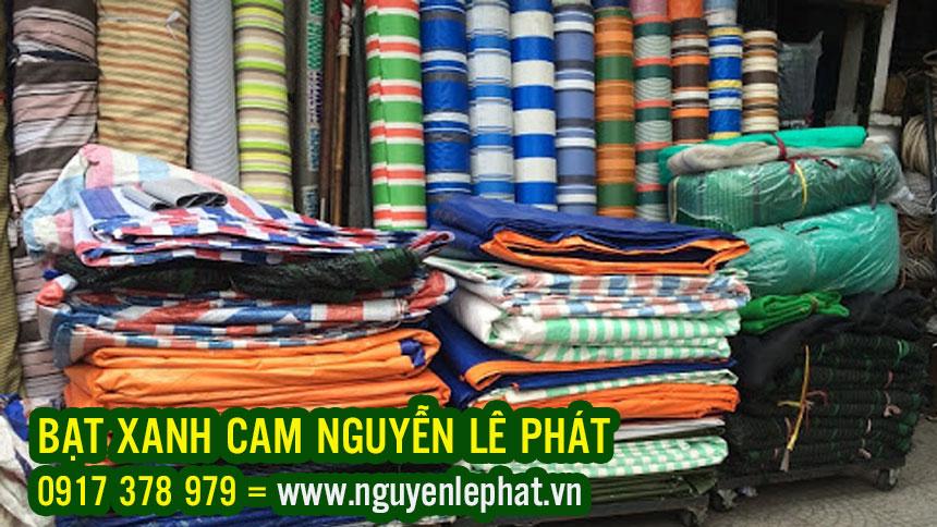 Bán Bạt Xanh Cam tại Bình Phước Giá Rẻ, Bạt Sọc Xanh Cam 2 Da Khổ6m8m